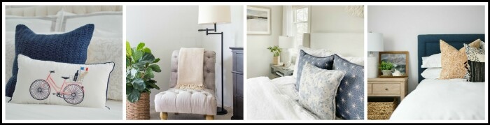 Adding light summer touches to a cozy and dark bedroom from Thrifty Decor Chick