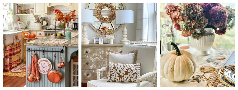 three fall pictures of interiors