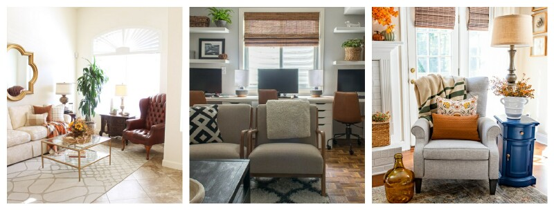 collage of interiors for Fall