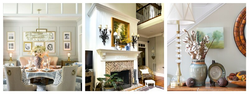 collage of interiors