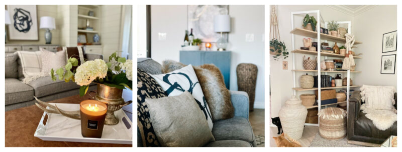 Fall decor in living rooms