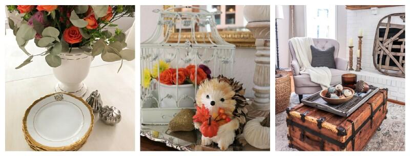 Autumn decor collage